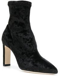 Jimmy Choo Pointed Velvet Ankle Boots