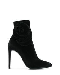 Giuseppe Zanotti Design Rose Detail Stiletto Booties