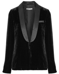 Ambrose satin trimmed velvet blazer black medium 954398