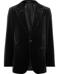 Black cotton velvet blazer medium 826226