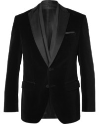Hugo Boss Black Havit Slim Fit Satin Trimmed Velvet Blazer