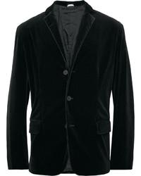 Tomas Maier Black Slim Fit Velvet Blazer