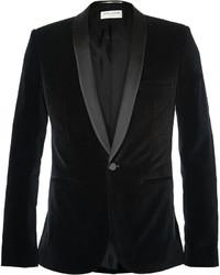 Saint Laurent Black Slim Fit Velvet Tuxedo Jacket