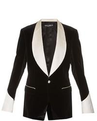 Dolce & Gabbana Single Breasted Velvet Blazer