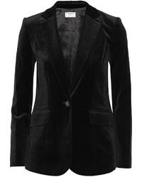 Le velvet blazer black medium 392910