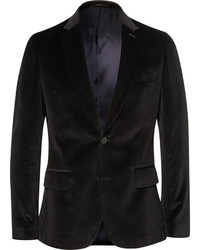 Paul Smith London Black Soho Slim Fit Velvet Blazer