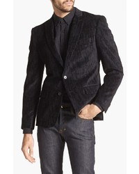 John Varvatos Star Usa Black Velvet Peak Lapel Sportcoat