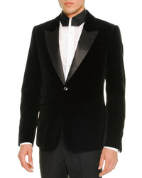 Alexander McQueen Velvet Evening Jacket Black