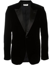 Saint Laurent Velvet Single Breasted Blazer