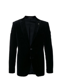 Tagliatore Velvet Single Breasted Blazer