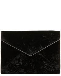 Black Velvet Clutch