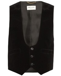 Saint Laurent Velvet And Silk Waistcoat