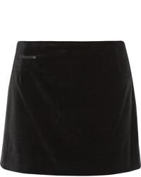 Silk satin trimmed velvet mini skirt medium 160609