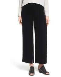 Wide leg velvet ankle pants medium 377310