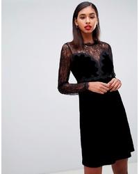 Morgan Velvet Mini Prom Dress In Black