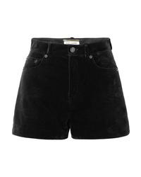Saint Laurent Velvet Shorts