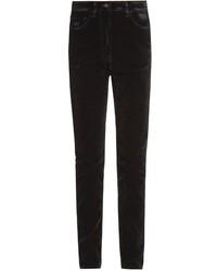 Tomas Maier High Rise Skinny Velvet Jeans