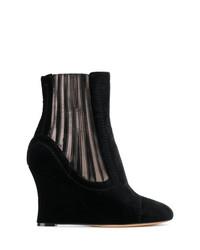 Alchimia Di Ballin Metallic Panelled Wedge Ankle Boots