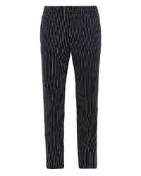 Black Vertical Striped Chinos