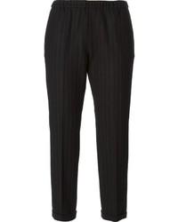 Alberto Biani Pinstripe Cropped Trousers