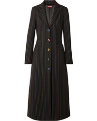 Staud Beatrice Striped Crepe Coat
