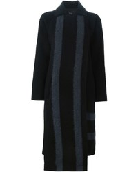 Tibi Front Panel Striped Coat