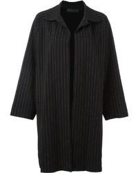 Norma Kamali Pinstripe Coat
