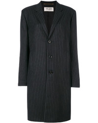 Saint Laurent Pinstripe Mid Length Coat