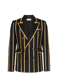 Saint Laurent Metallic Stripe Blazer Jacket