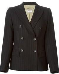 Pinstripe double breasted blazer medium 96277