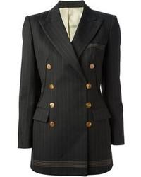 Vintage pinstriped jacket medium 96278