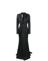 Moschino Pinstriped Double Breasted Gown