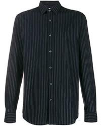 Alexander McQueen Metallic Pinstriped Shirt