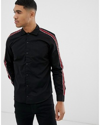 Pull&Bear Regular Fit Shirt With In Black