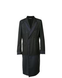 Comme Des Garcons Homme Plus Comme Des Garons Homme Plus Pinstriped Layered Coat