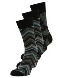3 pack socks khakiblack medium 4206303