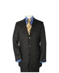 Black Vertical Striped Suit