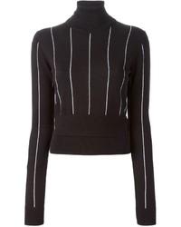 Michl michl kors turtle neck striped sweater medium 141132