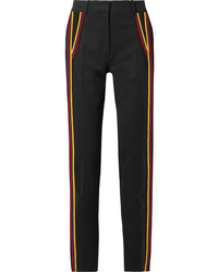 Calvin Klein 205W39nyc Striped Wool Blend Gabardine Straight Leg Pants