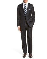 Hickey Freeman Tasmanina Classic Fit Stripe Wool Suit