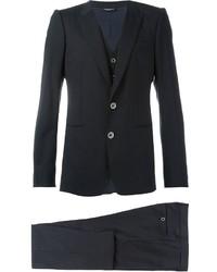 Dolce & Gabbana Pinstripe Three Piece Suit