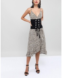Seint Corset Belt In Cotton With Eyelet Lace Up