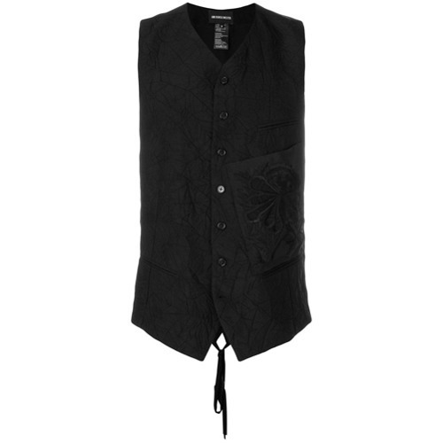 Ann Demeulemeester Patch Pocket Crinkled Waistcoat