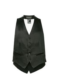 Ann Demeulemeester Rosetti Double Layer Waistcoat