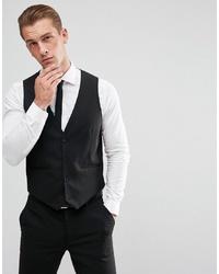 ASOS DESIGN Skinny Suit Waistcoat In Black