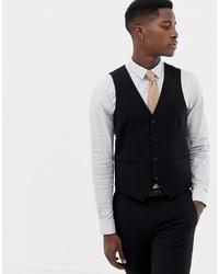 ONLY & SONS Skinny Waistcoat In Black