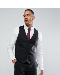 ASOS DESIGN Tall Skinny Suit Waistcoat In Black