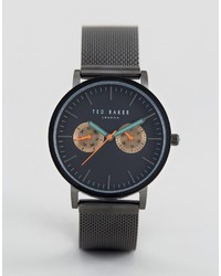 Ted Baker Brit Chronograph Mesh Watch In Black