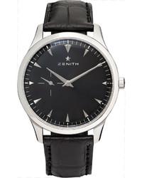 Zenith Elite Ultra Thin 40mm Stainless Steel And Alligator Watch