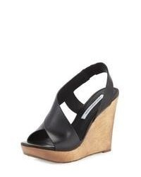 Black wedge sandals original 1642335